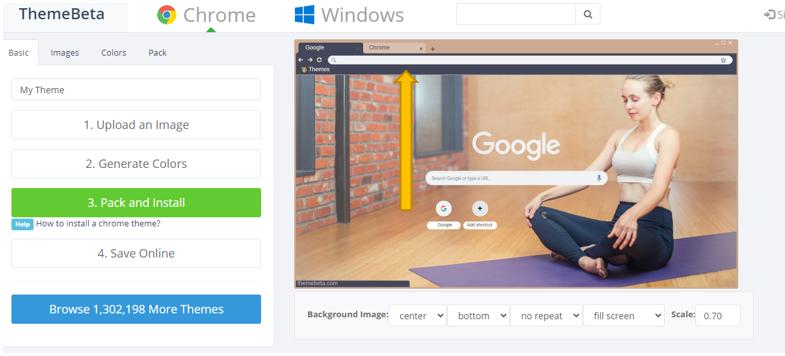 Google Chrome custom theme कैसे बनाये