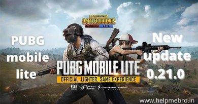 PUBG mobile lite new update 0.21.0